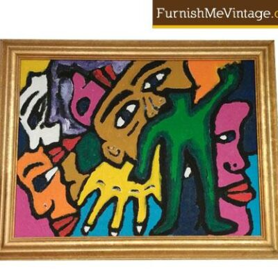 Abstracted Figural Modern Art Painting