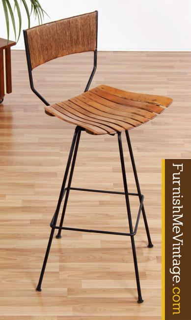 set of 3 mid century modern arthur umanoff bar stools. Black Bedroom Furniture Sets. Home Design Ideas