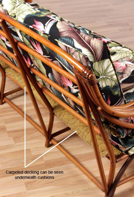 - Vintage Heywood Wakefield Rattan Chair And Ottoman