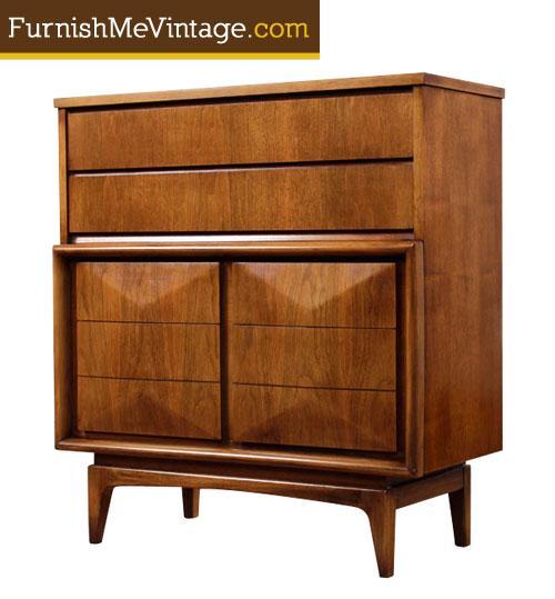 Mid Century Modern United Furniture Tall Dresser