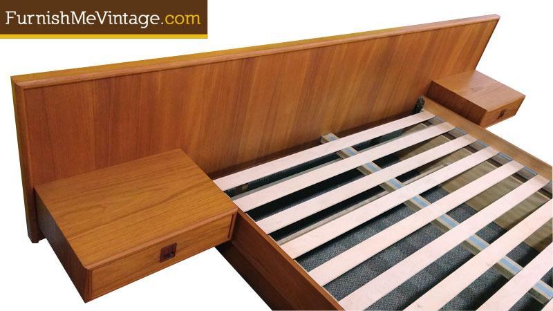 Mid Century Modern Teak Queen Platform Bed