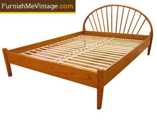 Vintage Jespersen Danish Teak Queen Bed