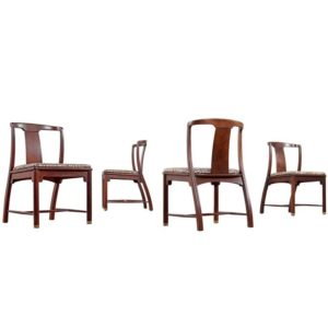 Vintage Mahogany Chinoiserie Chairs – Edward Wormley Style
