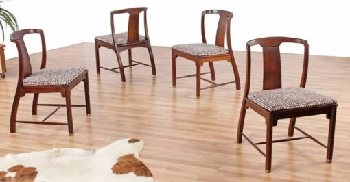 Vintage Mahogany Chinoiserie Chairs