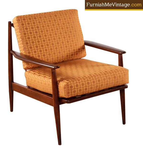 Mid Century Modernist High Back Or Desk Chair W New: Restored Mid Century Modern Baumritter Chair