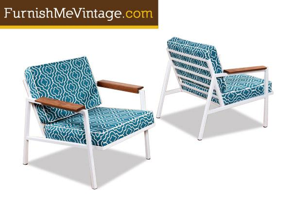 Restored Mid Century Modern Outdoor Chairs 3 Available
