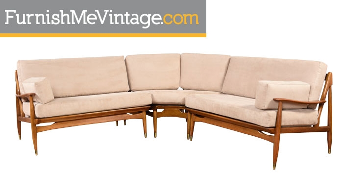Restored Mid Century Modern Sectional Sofa