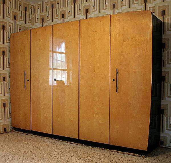 Mid Century Modern Regency German Modular Closet Armoire