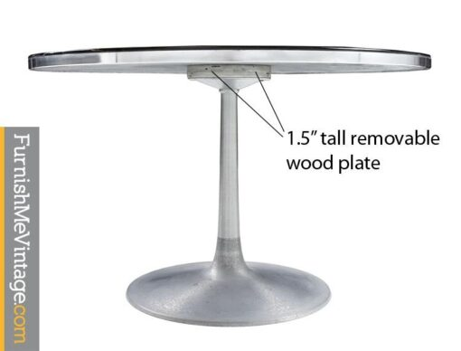 Poul Cadovius Aluminum Dining Table Decorated by Mygge Susanne Fjeldsoe