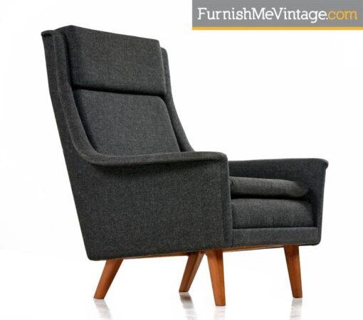 Original, Scandinavian Modern, Lounge Chair, Folke Ohlsson,Fritz Hansen