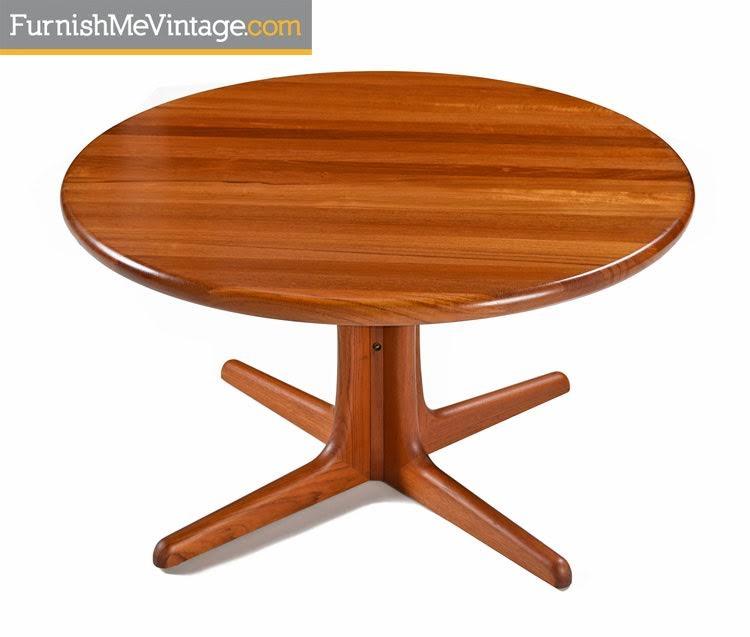 Danish Solid Teak Round Coffee Table
