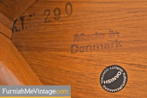 Danish Solid Teak Round Coffee Table