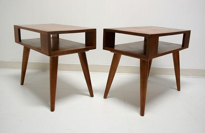 mid century end table 2 Conant Ball End Tables Mid Century Modern mid century end table