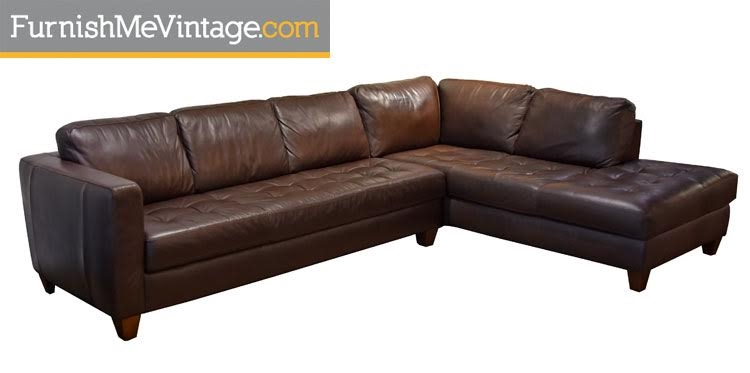 Brazilian Leather Sectional By ItalSofa