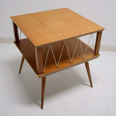 Atomic Style Mid Century Modern Blond End Table Sale