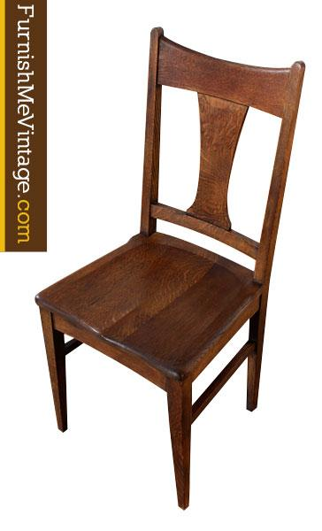 Antique Quartersawn Oak Chair