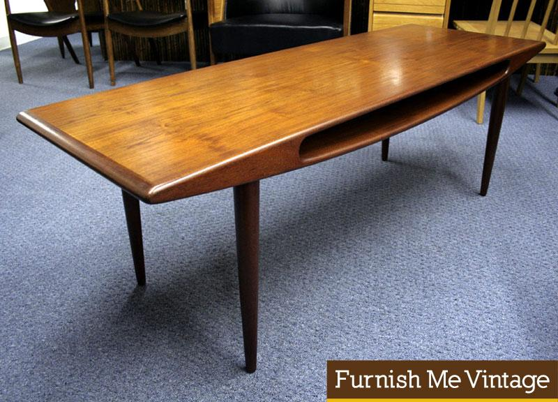 Perfect Vintage Danish Teak Smile Coffee Table Or Console Pictures Gallery