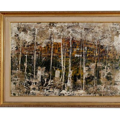 Italian Mid Century Modern Abstract Expressionist Painting