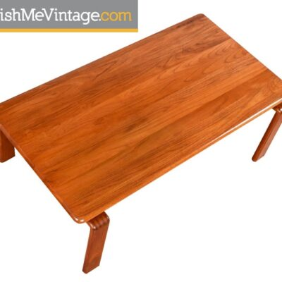 Refinished Vintage Solid Teak Coffee Table