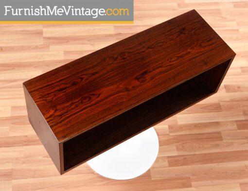 Restored Vintage Danish Rosewood Rotating Bookcases