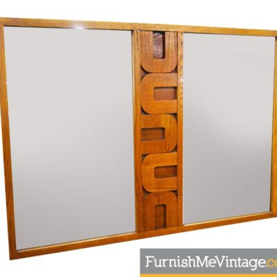 Vintage Large Sculpted Facade Mirror