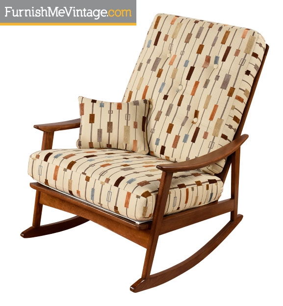 Admirable Restored Mid Century Modern Yugoslavian Rocking Chair Alphanode Cool Chair Designs And Ideas Alphanodeonline