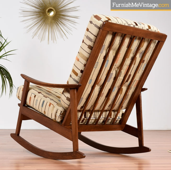 Restored Mid Century Modern Yugoslavian Rocking Chair