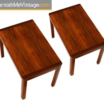 Pair of Vintage Norwegian Rosewood End Tables