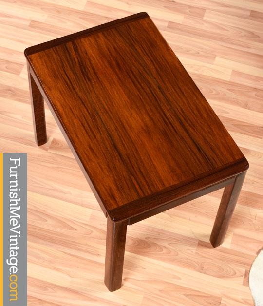 Pair Of Vintage Norwegian Rosewood End Tables