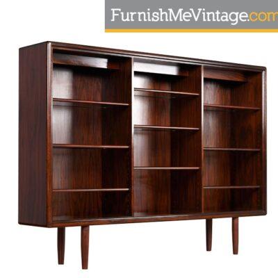 Vintage Rosewood Scandinavian China Cabinet