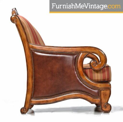Michael Amini Toscano Chairs and Ottoman