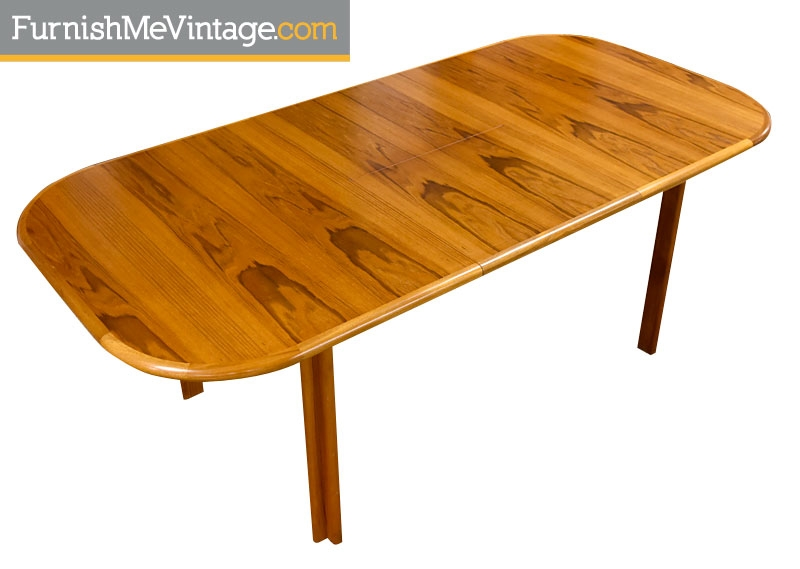 Red Vintage Teak Dining Table With Erfly Leaf On Hold