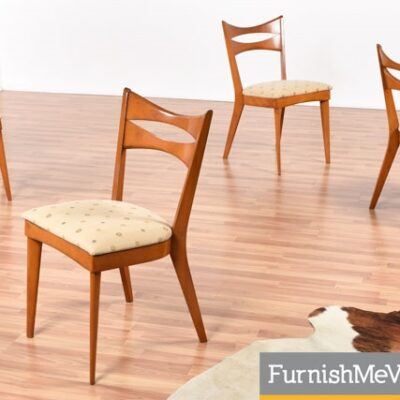 Set of Four M 1553 A Heywood Wakefield Dining Chairs