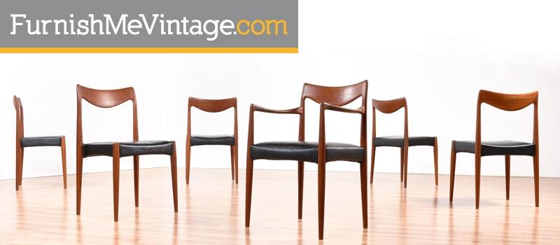bambi dining chairs,gustav hagus,rolf rastad,adolf relling,teak,scandinavian modern