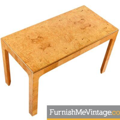 Restored,Vintage, Henredon, Scene Two, Burled Olive Desk