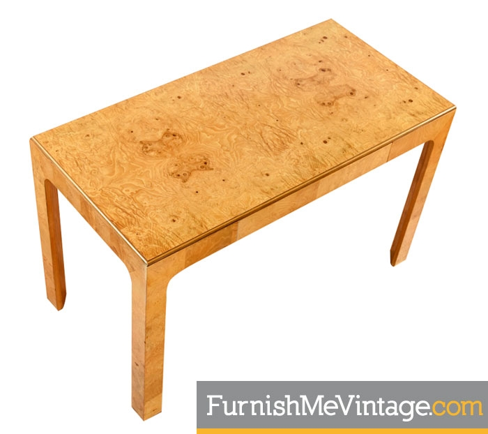 Remarkable Restored Vintage Henredon Scene Two Burled Olive Desk Ocoug Best Dining Table And Chair Ideas Images Ocougorg
