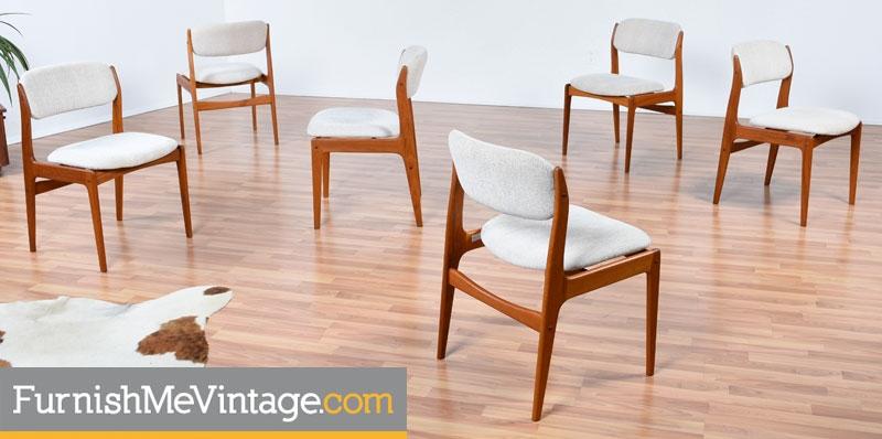 Beau Benny Linden,danish,modern,teak,dining Chairs,vintage,scandinavian