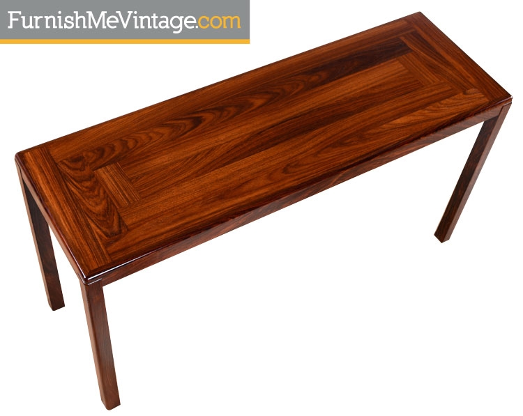 Red Vintage Danish Rosewood Console Table