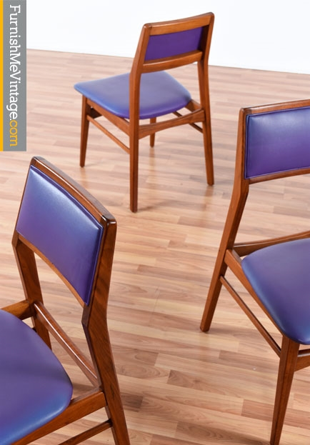 Set Of Four Vintage Foster McDavid Chairs In Purple