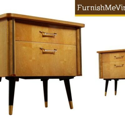 Pair of Mid Century Modern German Nightstands