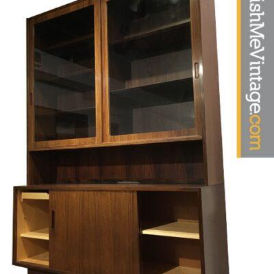 Vintage Rosewood Hundevad Danish China Cabinet