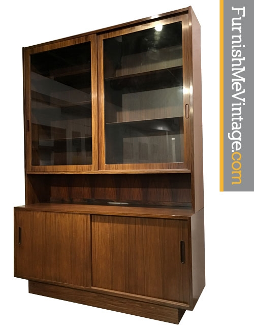 Danish Rosewood China Cabinet by Poul Hundevad