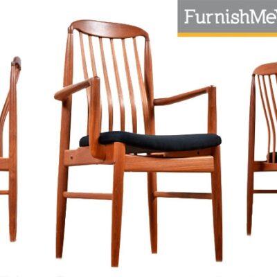 Benny Linden,BL10 chairs,dining,teak,modern,vintage