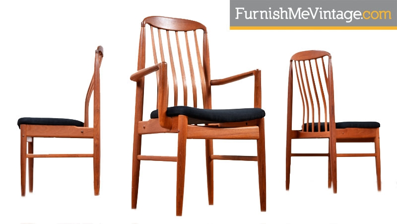 Danish Modern Benny Linden Solid Teak Bl10 Chairs