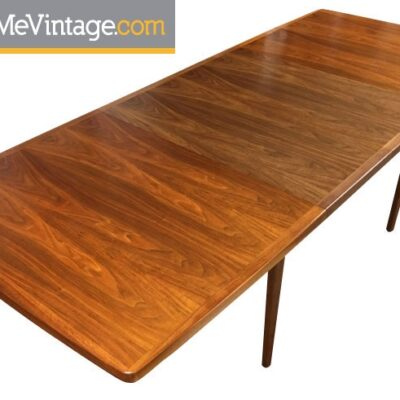 Vintage Long Canadian Teak Dining Table