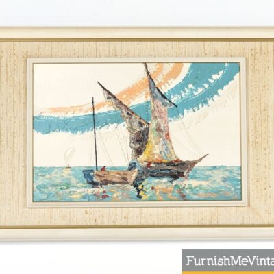 Elmo Gideon Mid Century Modern Nautical Painting