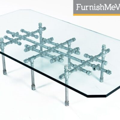 Bespoke Modern Coffee Table Made of Pipes