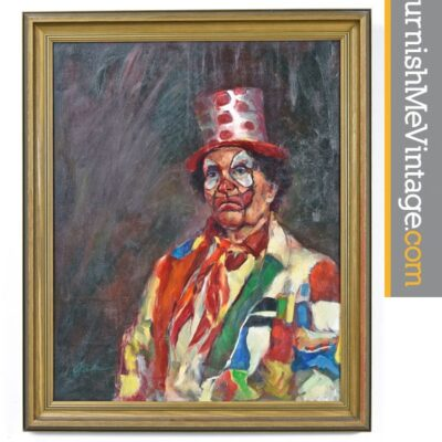 Vintage Clown Portrait by Shea