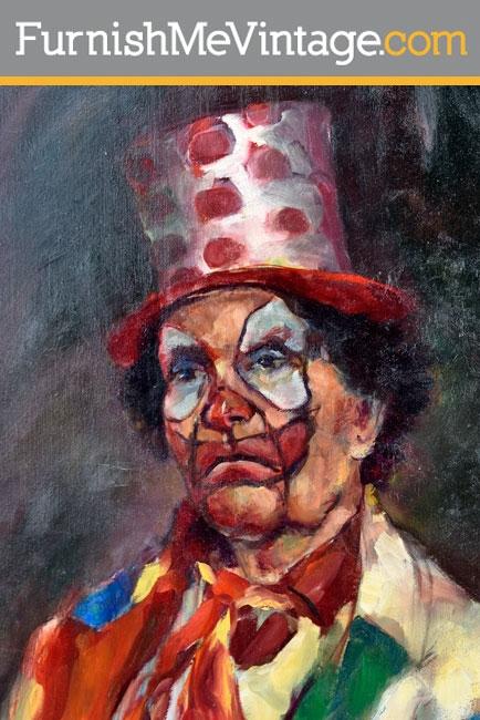 Vintage Clown Portrait by Shea