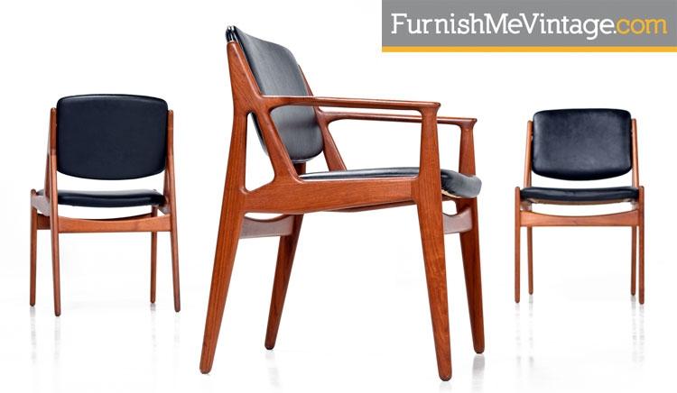 Mid Century Modern Arne Vodder Ella Dining Chairs